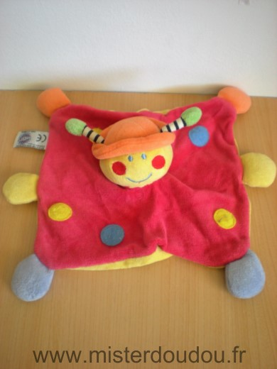 Doudou Coccinelle Mgm Rouge orange jaune