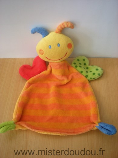 Doudou Abeille Babyclub Orange jaune