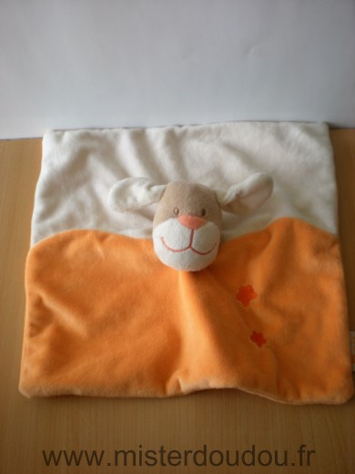 Doudou Chien Doukidou Orange blanc
