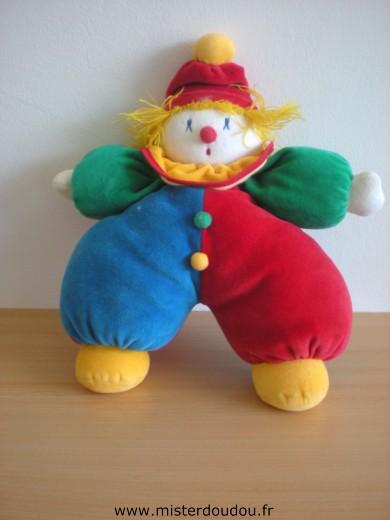 doudou clown moulin roty rouge vert bleu jaune mister doudou sos doudou perdu. Black Bedroom Furniture Sets. Home Design Ideas