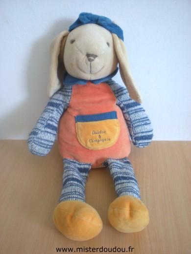 Préférence Doudou Lapin Doudou et compagnie Orange bleu pattes en tricot  AC35