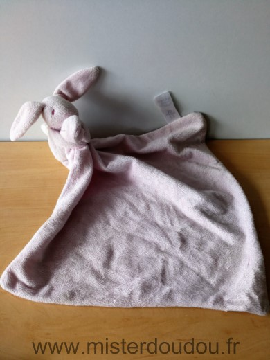 Doudou Lapin Early days Rose mouchoir rose