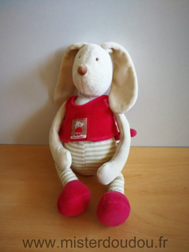 Doudou Lapin Moulin roty Beige rouge linvosges 123 lapin