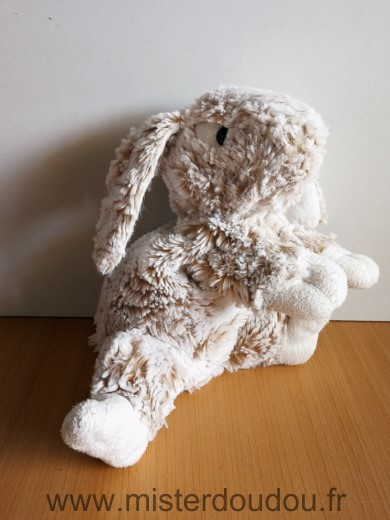 Doudou Lapin Soft friends Beige blanc chine