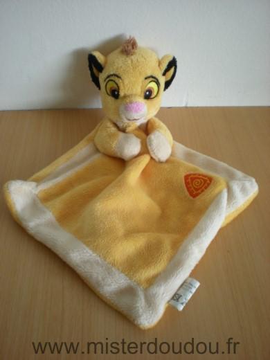 Doudou lion disney simba roi lion mouchoir jaune mister - Voir le roi lion ...