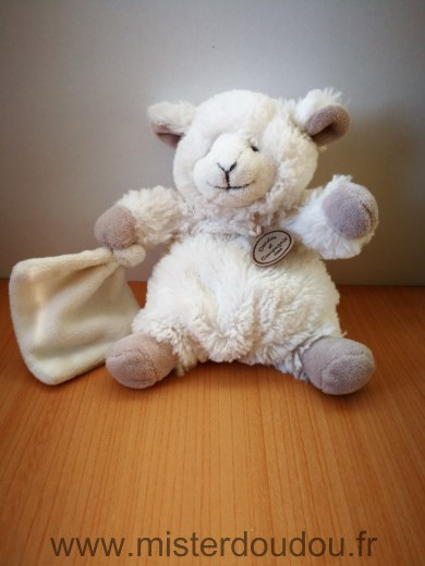 doudou mouton doudou et compagnie blanc beige mouchoir. Black Bedroom Furniture Sets. Home Design Ideas