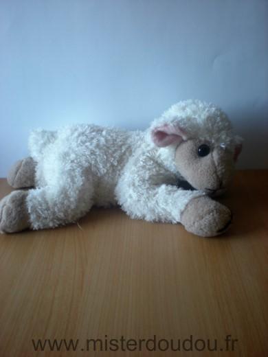 Doudou mouton maisons du monde blanc beige oreilles roses mister doudou sos doudou perdu - Peau de mouton maison du monde ...