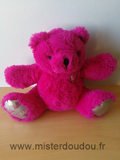 Doudou Ours Beauty success Rose