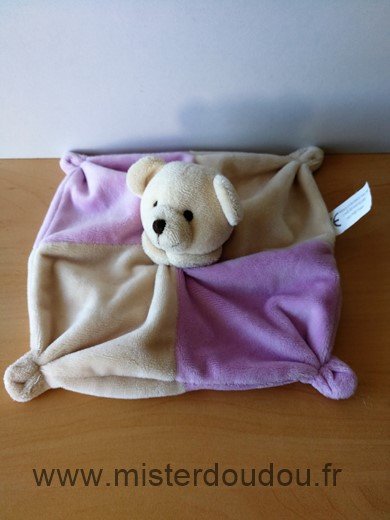 Doudou Ours Cmp Beige rose