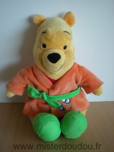 Doudou Ours Disney Winnie Nicotoy En Veste Ou Robe De Chambre Orange