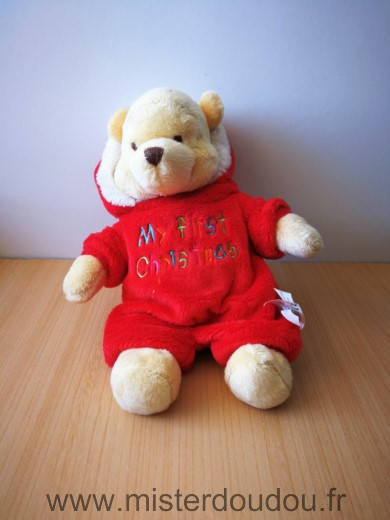 Doudou Ours Disney Winnie rouge noel my first christmas