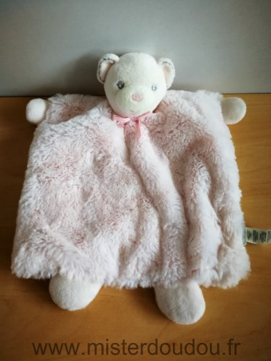 Doudou Ours Kaloo Rose perle