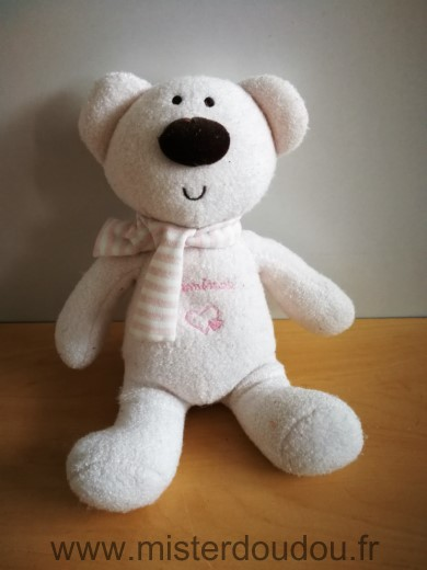Doudou Ours Luminou Rose