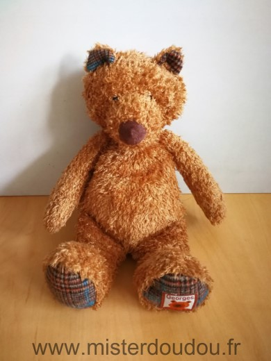 Doudou Ours Moulin roty Georges marron