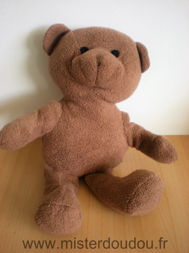 Doudou Ours Yves rocher Marron grand modele