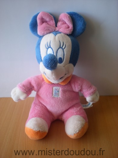 Doudou Souris Disney Minnie rose bleu