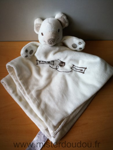 Doudou Souris Early days Blanc baby mouse