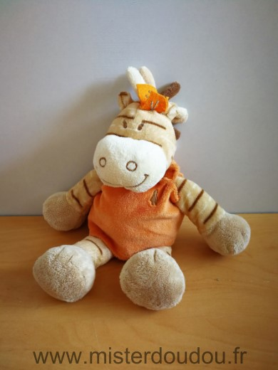 Doudou Zébre Noukie s Beige orange zamba